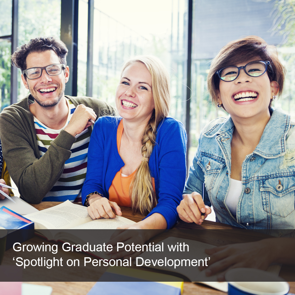 New graduates enjoying a session on personal development