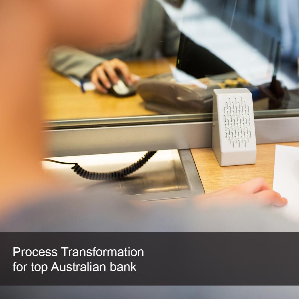 Processing a transaction at an Australian bank