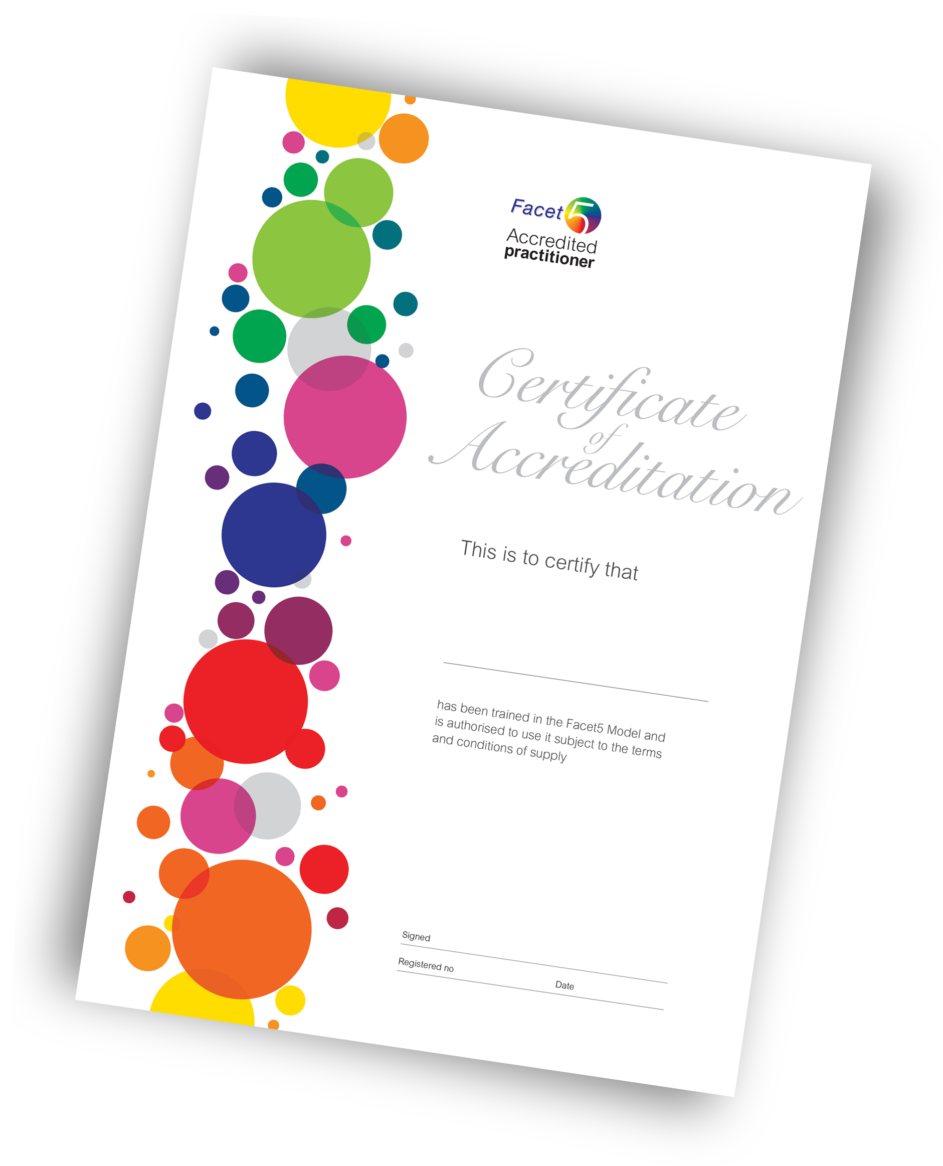 Facet5 Accreditation certificate